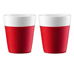 Bodum - BISTRO set of 2 red mugs with silicone sleeve
