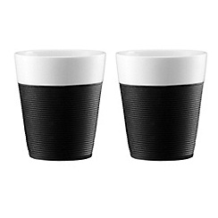 Bodum - BISTRO set of 2 black mugs with silicone sleeve