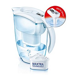 Brita - White elemaris jug & 10 cartridges