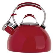 Prestige red enamel kettle