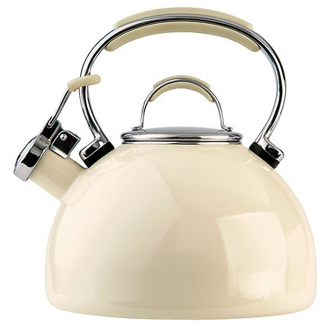 Prestige - Cream enamel kettle