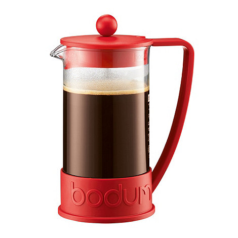 Bodum - Red +Brazil+ three cup coffee maker