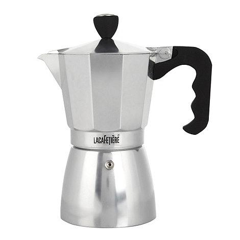 La Cafetiere - Aluminium polished 6 cup classic espresso maker