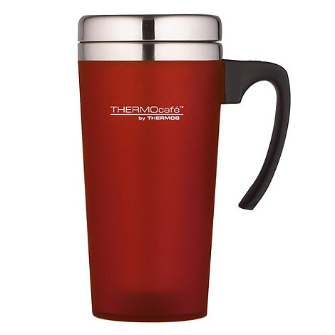 Thermos - ThermoCafe red +Zest+ travel mug