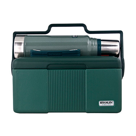 Stanley - Stainless steel green Classic vacuum bottle and foam insulated cooler