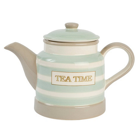 T&G Woodware - Cream & Country Mint Ceramic Teapot