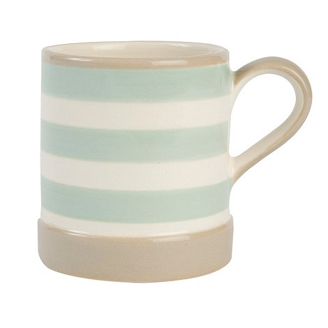 T&G Woodware - Cream & Country Mint Stripe Mug