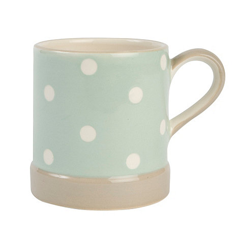 T&G Woodware - Cream & Country Mint Spot Mug