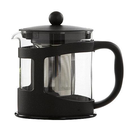 Home Collection Basics - Black one litre plastic teapot