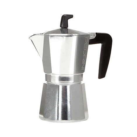 Pedrini - Aluminium 6 cup coffee pot