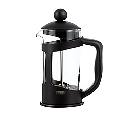 Home Collection Basics - Black glass and plastic three cup cafetiere