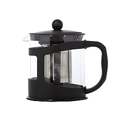 Home Collection Basics - Black 1L glass teapot