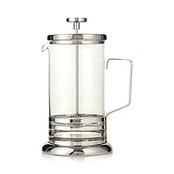 Home Collection - Silver glass and metal eight cup cafetiere