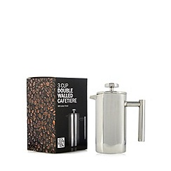Home Collection - Metal double walled three cup cafetiere