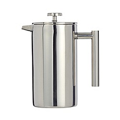 Home Collection - Silver metal double wall eight cup cafetiere