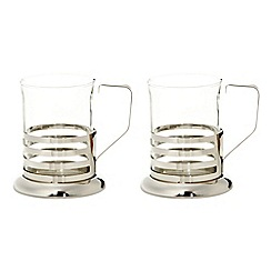 Home Collection - Set of two stainless steel band mugs