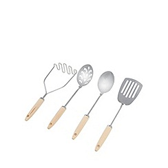 Home Collection Basics - Wooden handled utensils set