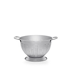 Home Collection - Silver stainless steel colander with a base