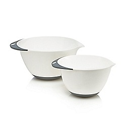 Home Collection Basics - Pack of two white mixing bowls