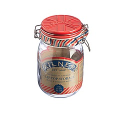 Kilner - Red 'Union Jack' 1L jar with ceramic lid