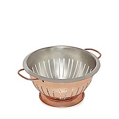 J by Jasper Conran - Bronze copper colander with a base