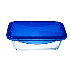Pyrex - Borosilicate glass 'Cook And Go' rectangular 0.8L container