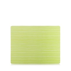 Home Collection Basics - Large glass green striped worktop saver