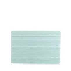 Home Collection Basics - Small glass teal striped worktop saver