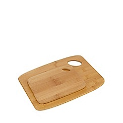Home Collection Basics - Set of two bamboo chopping boards