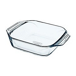 Pyrex - 'Optimum' glass squareroaster 25cm