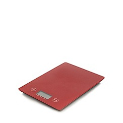 Home Collection - Red slim line electronic scale