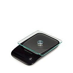 Home Collection - Black glass platform electronic scale