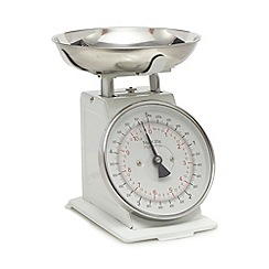 Home Collection - White mechanical scale