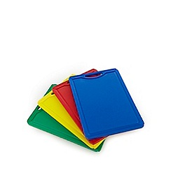 Home Collection - Set of four assorted plastic chopping boards