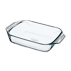 Pyrex - Glass 'Optimum' rectangular roasting dish
