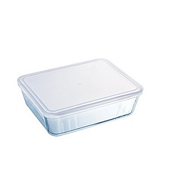 Pyrex - Set of 2 glass storage dishes with lids