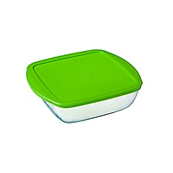 Pyrex - Glass 'Cook And Store' 1L square storage dish