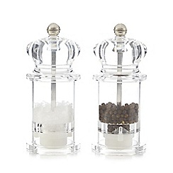 Home Collection Basics - Clear salt and pepper mill set