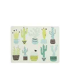 Ben de Lisi Home - Green cactus print glass kitchen board