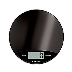 Salter - Dark Grey round electronic scale 1059