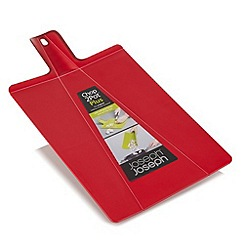 Joseph Joseph - Chop2Pot Plus large folding chopping board in red