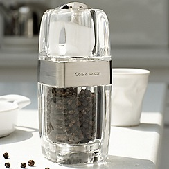 Cole & Mason - Silver acrylic 'Precision' salt and pepper mill
