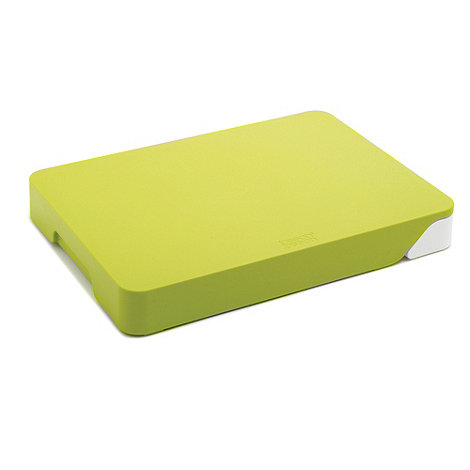 Joseph Joseph - Cut&Collect chopping board with integral drawer in green