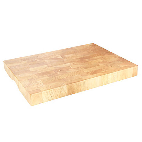 Debenhams - Wooden rectangular segmented chopping board