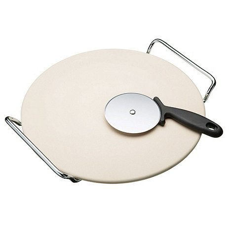 Kitchencraft - Ceramic pizza stone and cutter