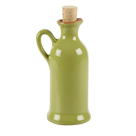 Debenhams - Ceramic green drizzler bottle
