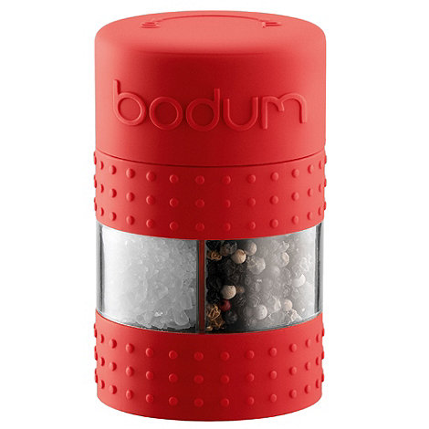 Bodum - Ceramic 'Bistro' red two in one mill