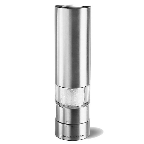 Cole & Mason - Cole and Mason +Greenwich+ stainless steel electronic salt mill