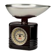 Typhoon stainless steel black 'Vintage' kitchen scales