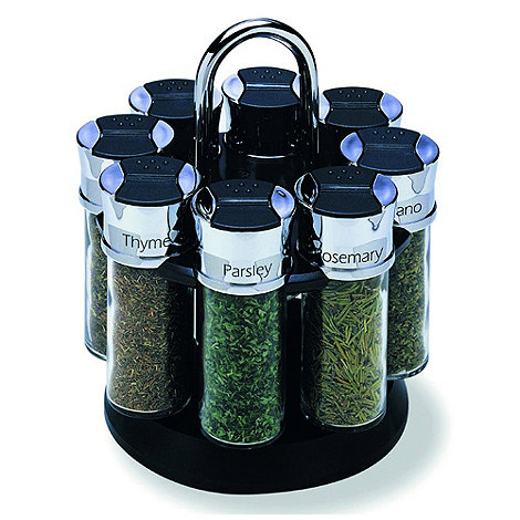 Olde Thompson - Chrome 8 jar spice rack
